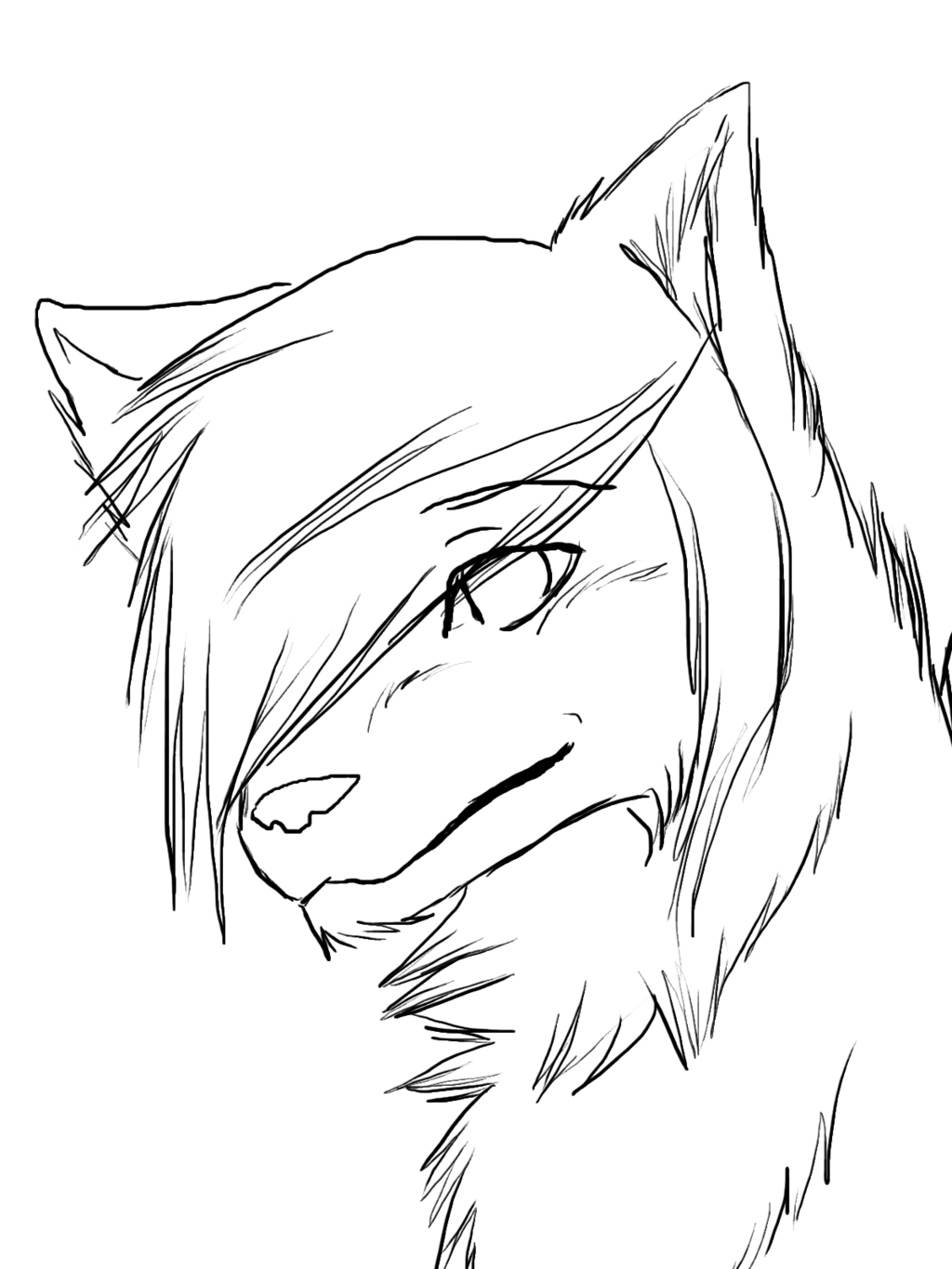easy to draw anime wolf Google Search … Wolf drawing