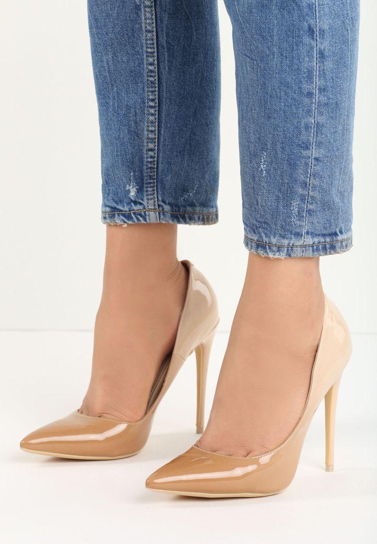Bezowe Szpilki Ombre Fashion Pumps Heels