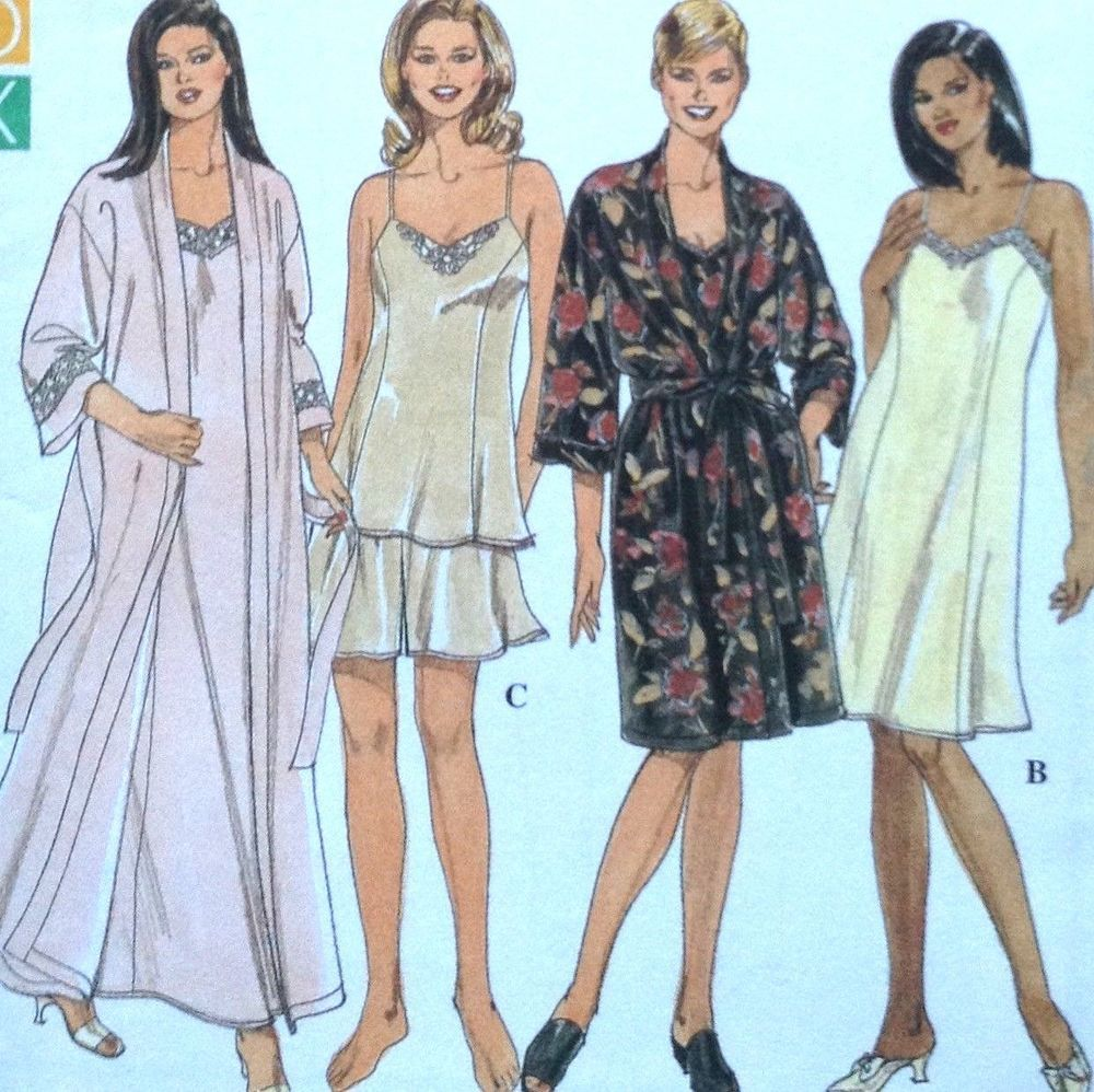 50b8eb6fe Simplicity 8486 Sewing Pattern Robe Chemise Nightgown Camisole Slip Plus  Size  SimplicityFullFigureSolutions