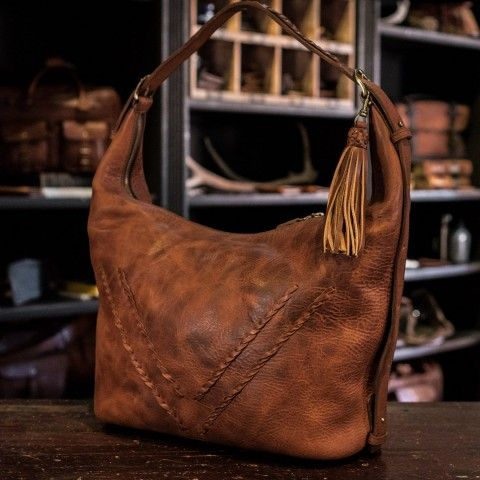 5bc75d873e Camden Braided Leather Shoulder Bag | Hickory | Purses | Braided ...