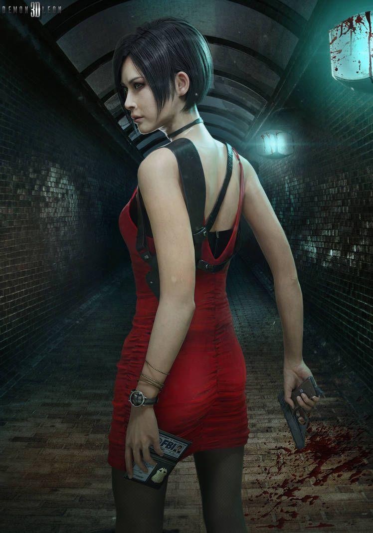 Re2 Remake Ada Wong Render By Demonleon3d Com Imagens
