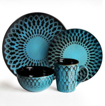 Sicily Blue 16 Piece Dinnerware Set - eclectic - dinnerware - Jay Import  sc 1 st  Pinterest & Sicily Blue 16 Piece Dinnerware Set - eclectic - dinnerware - Jay ...