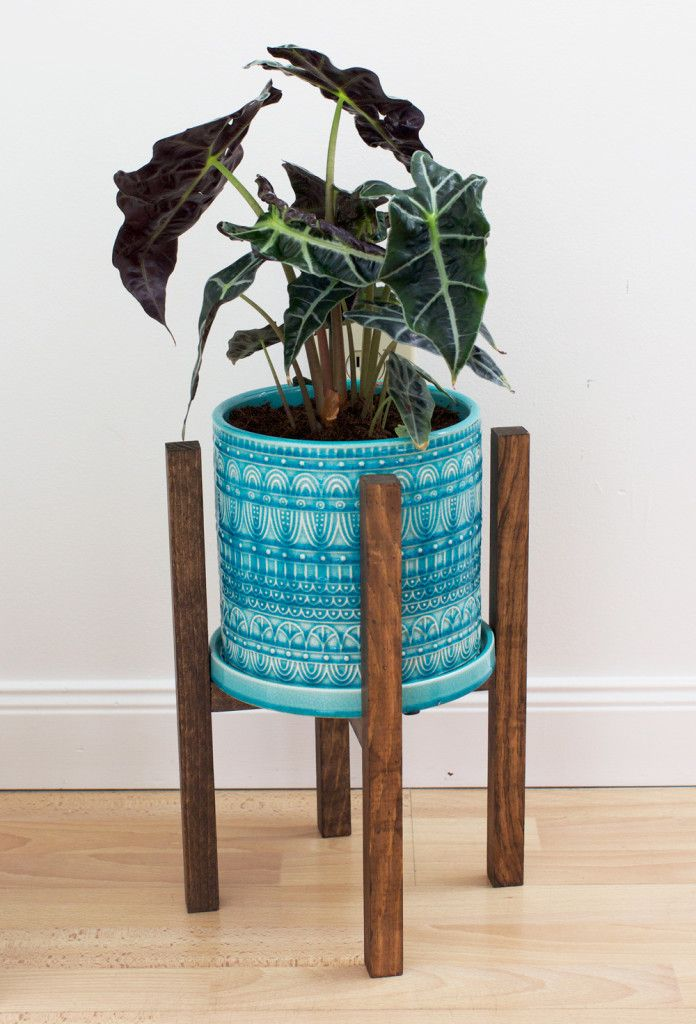 Simple and sweet DIY modern planter stand Jardineras modernas - jardineras modernas