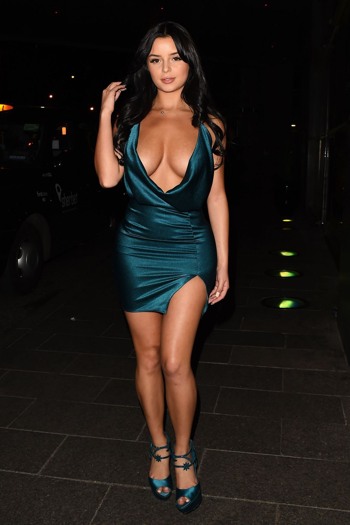 7eccf7c2e Demi Rose Mawby.. Roya Vahdati dress..