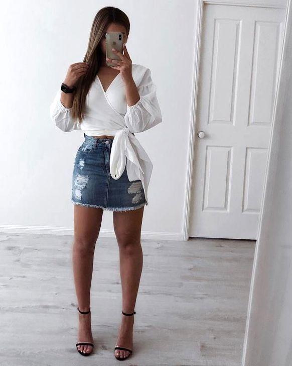 50 Affordable Denim Skirt Ideas For Women