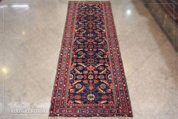 10' X 3' 4'' Runner RugLong Vintage Persian by RugArtStudio