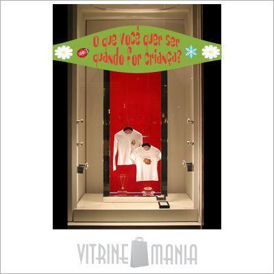 Dia da Criança é tudo de bom. Por isso a loja virtual da Vitrine Mania tem uma Coleção de Adesivos de Vitrine dedicada especialmente às crianças. #vitrine #vitrinismo #visualmerchandising #diadacrianca #vitrineinfantil #vitrinediadacrianca #adesivodevitrine