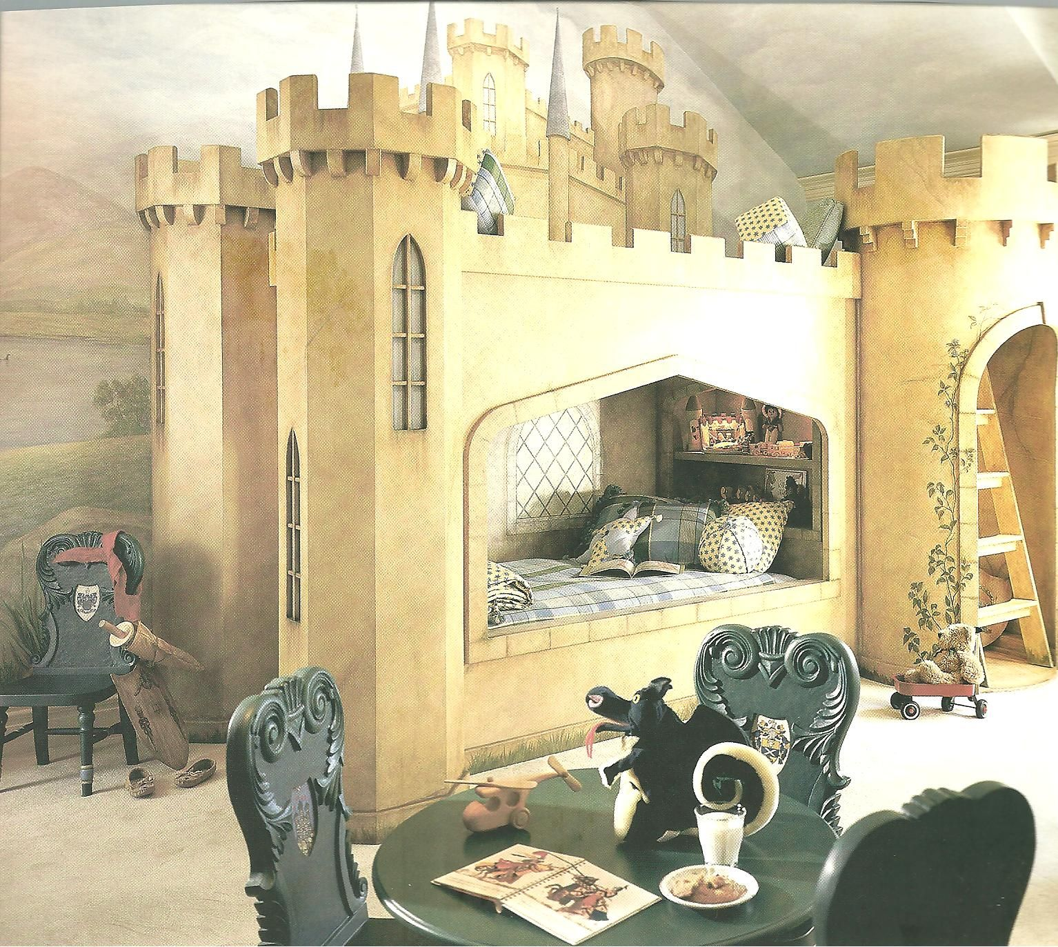 Kids Bedroom, Castle Bed