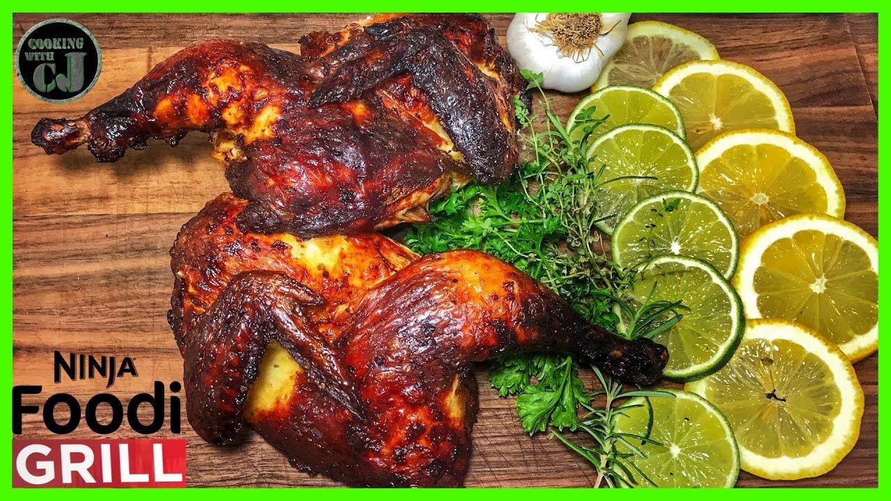 How To Roast A Whole Chicken In The Ninja Foodi Grill Ninjafoodigrill Youtube Stuffed