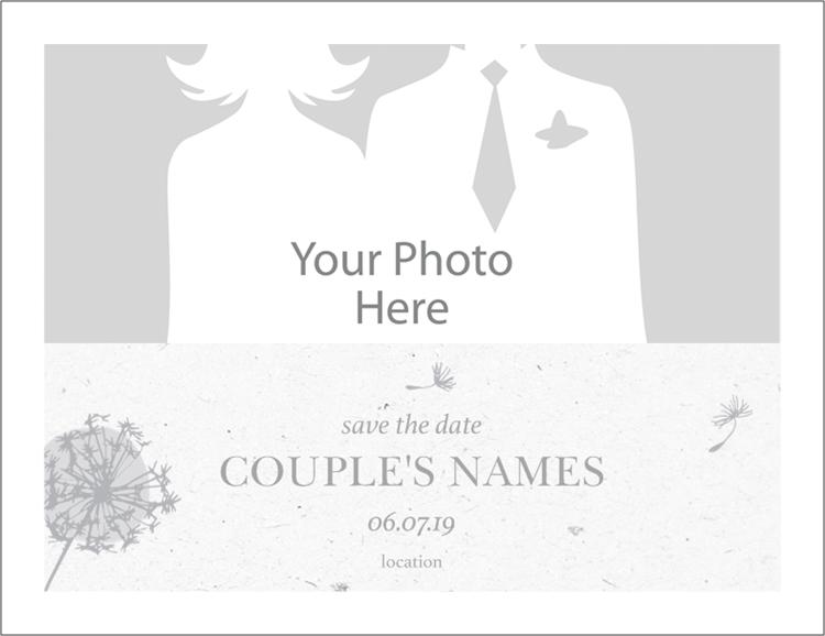 Save the Date Wedding response cards, Custom
