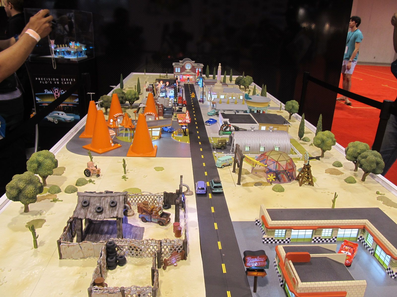Model of Radiator Springs Disney cars theme party