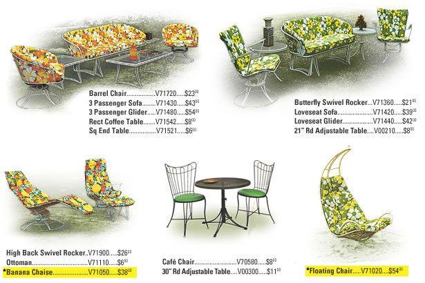 Awesome Vintage Homecrest Furniture In Super Cool Retro Patterns Vintage Patio Furniture Vintage Patio Vintage Outdoor Furniture