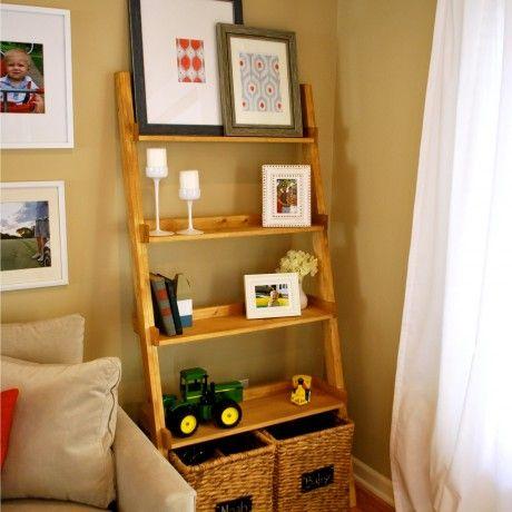 Dazzling Ladder Bookshelf Design Featuring Diy Ladder Bookshelf Together 4  Tier And Maple Wood Material Ladder