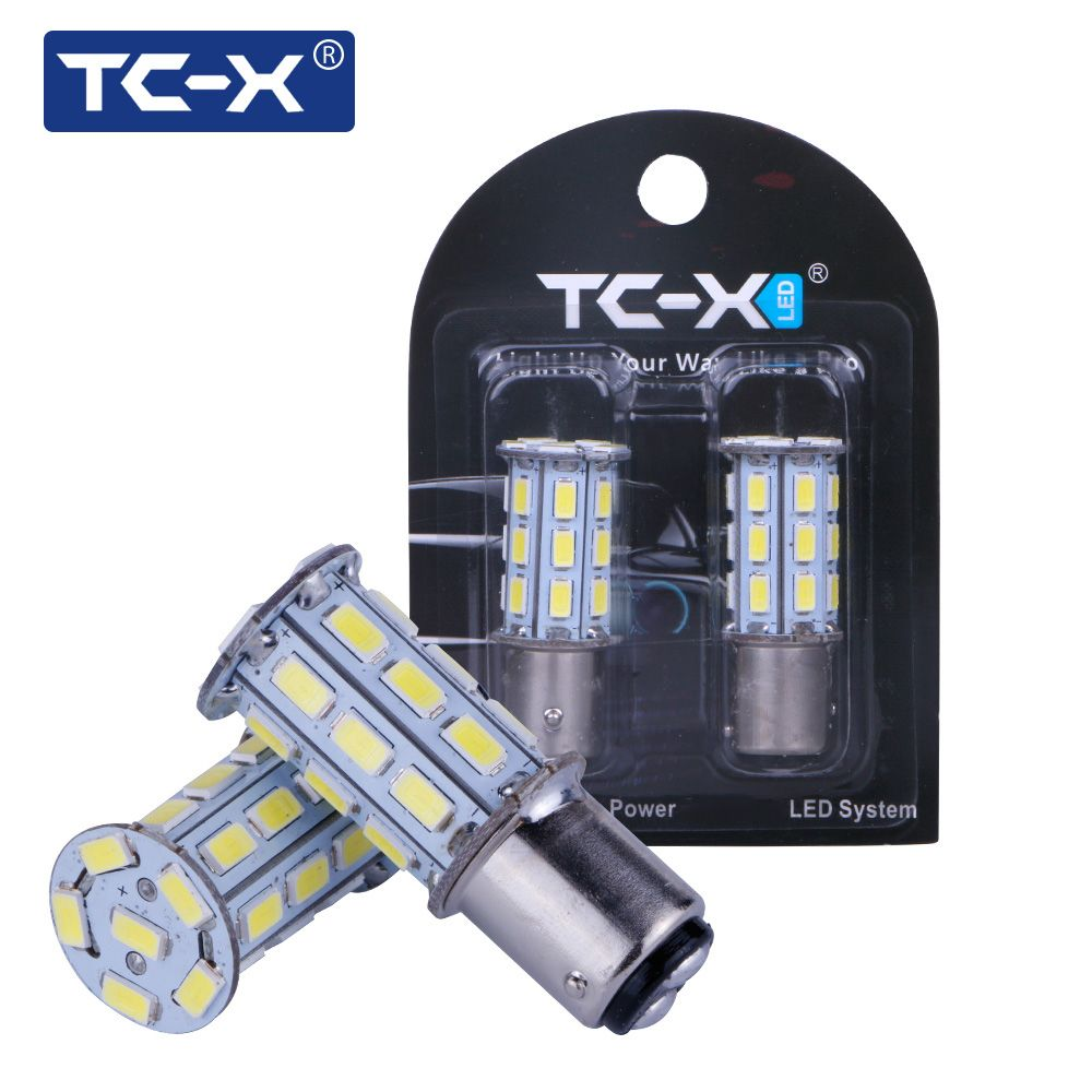 Tc X 2pcs Pair Car Led Lights 1157 Ba15d 27 Leds 5730 Smd 12v White For Reversing Brake Light After Fog Light Signal Lamp Car Led Lights Lights Car Lights