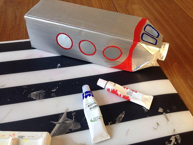 raketenlaterne basteln aus tetrapack dies und das. Black Bedroom Furniture Sets. Home Design Ideas