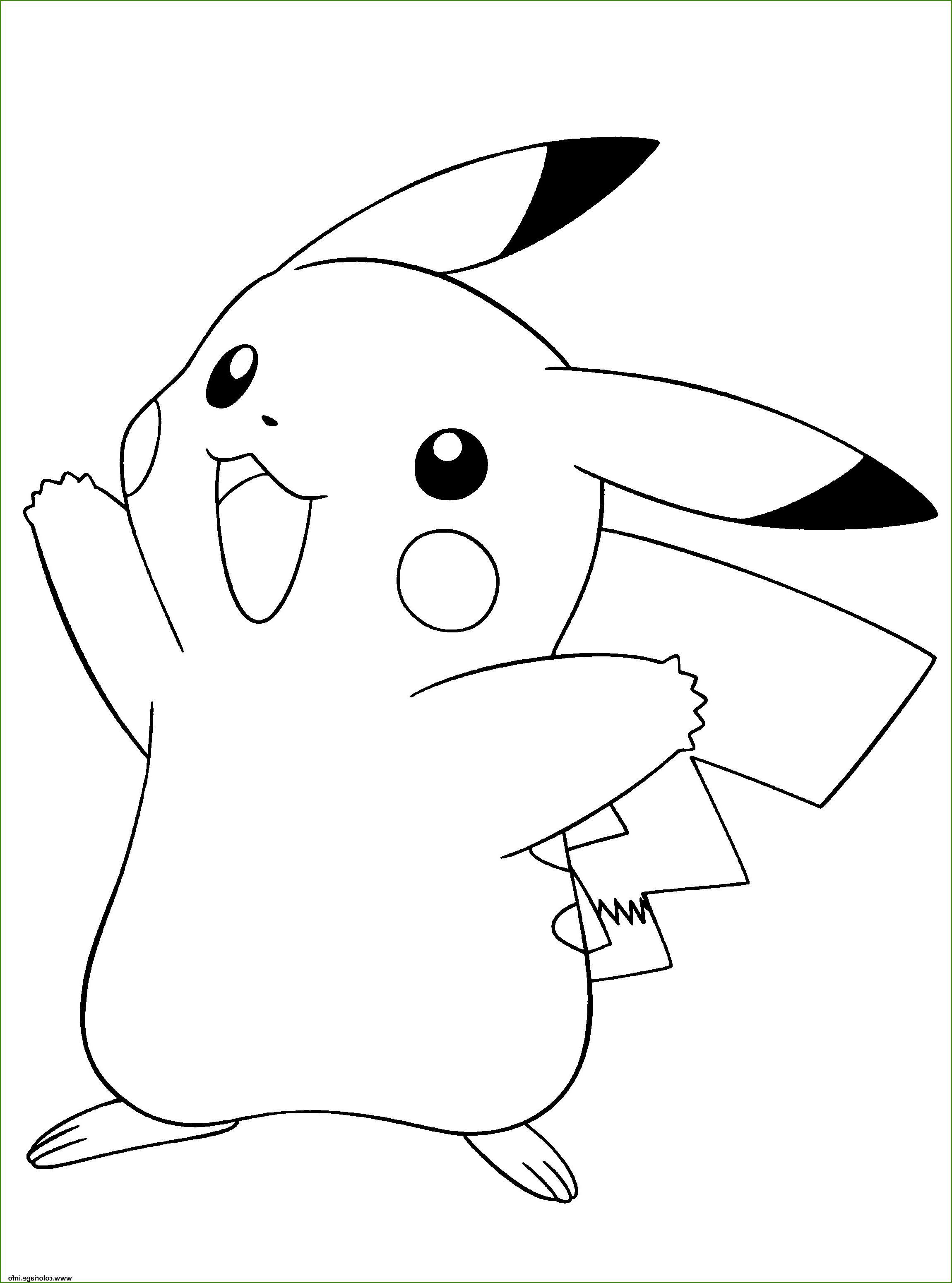 Coloriage Pokemon Pichu Stupefiant Coloriage Pokemon Noir Et