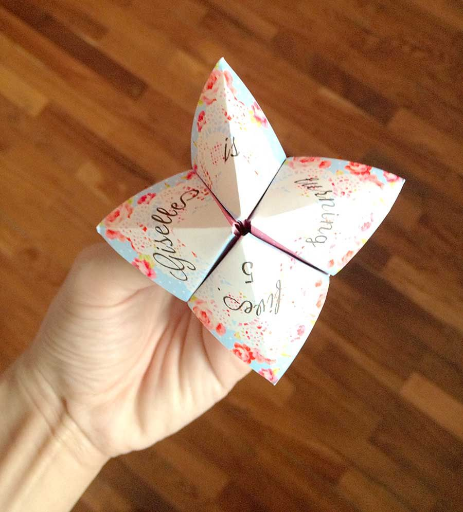 Cootie Catcher Birthday Invitation Invitations