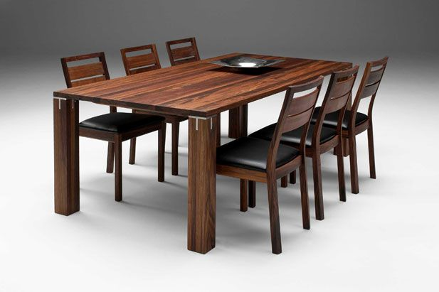 Modern Wooden Dining Room Table For Natural Touch And Briliant Decoration
