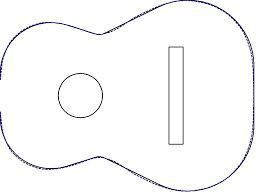 guitar templates for cakes - image result for acoustic guitar cake template food