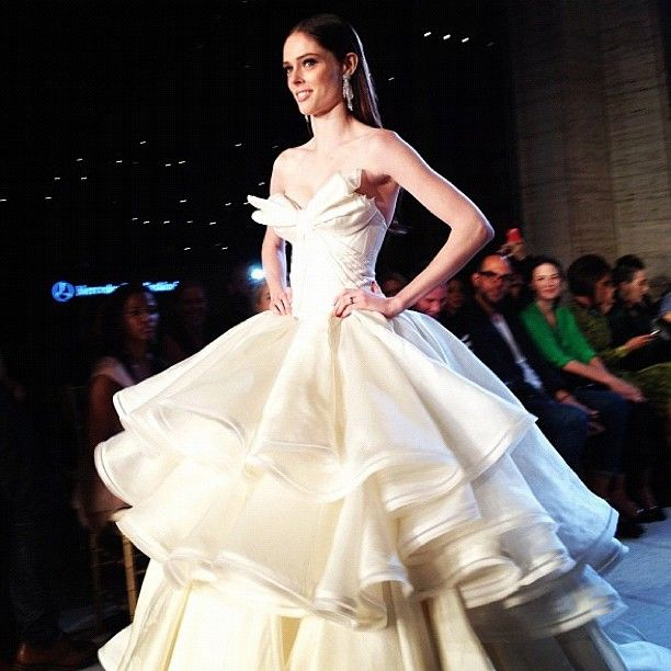 """The last look at #ZacPosen's show. Elizabeth Holmes called it a """"show stopper."""" #nyfw"""