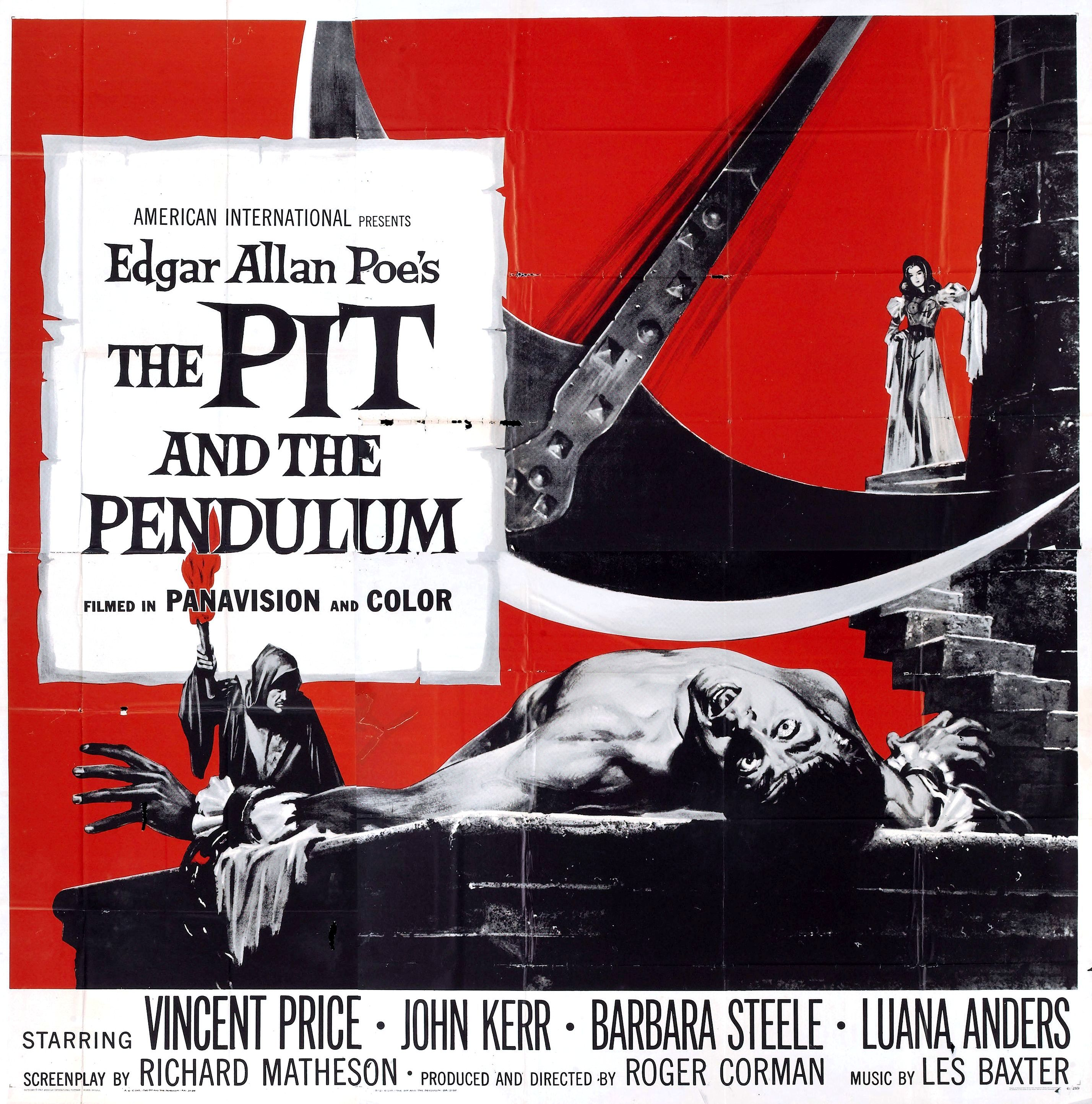 the pit and the pendulum quad film posters  the pit and the pendulum 1961 quad