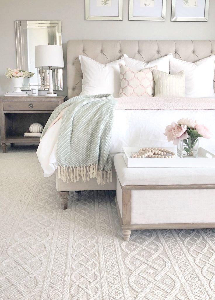 white neutral bedroom design soft feminine master bedroom on romantic trend master bedroom ideas id=64467