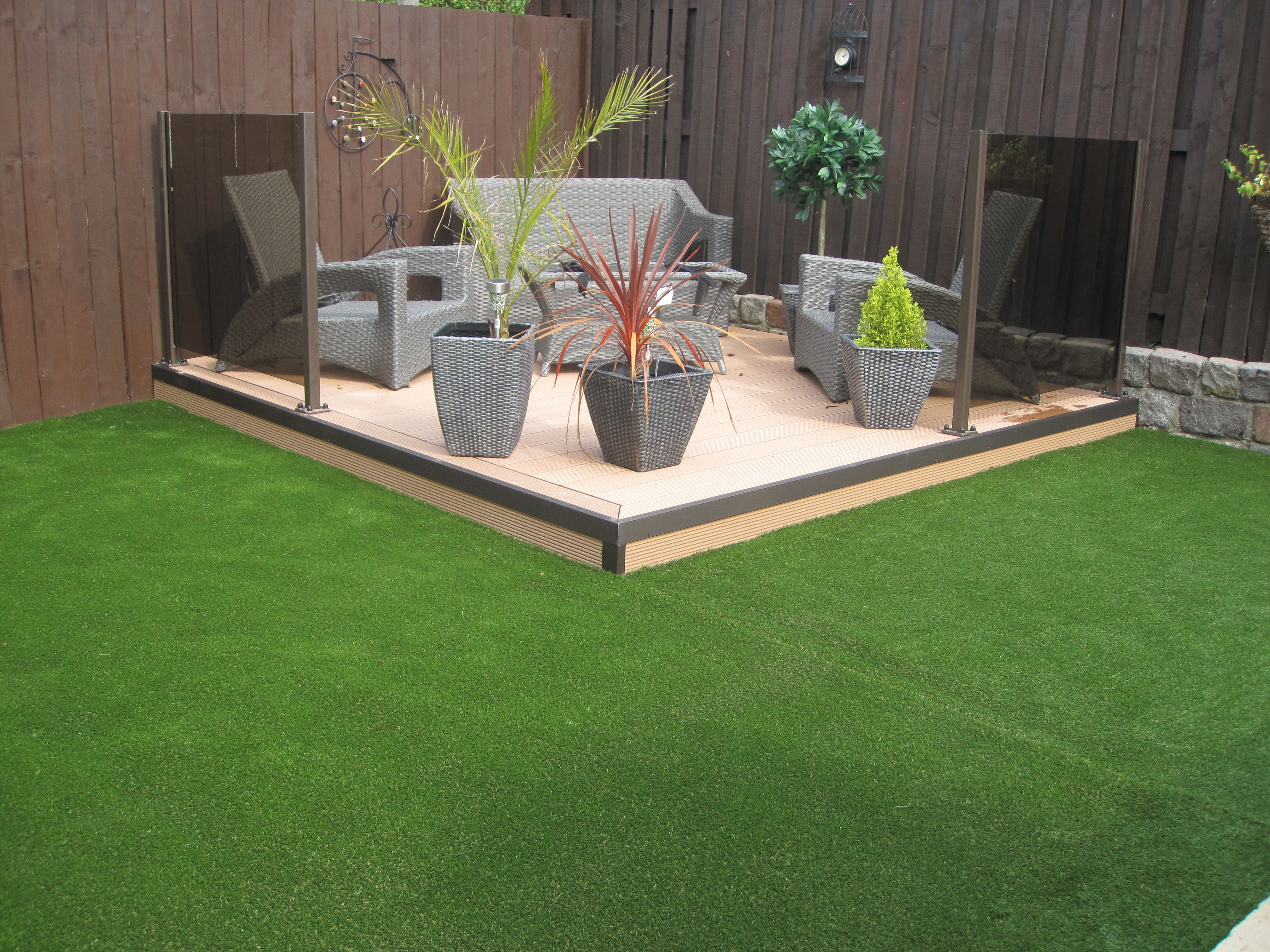 twinson posite decking with quickgrass woburn artificial grass