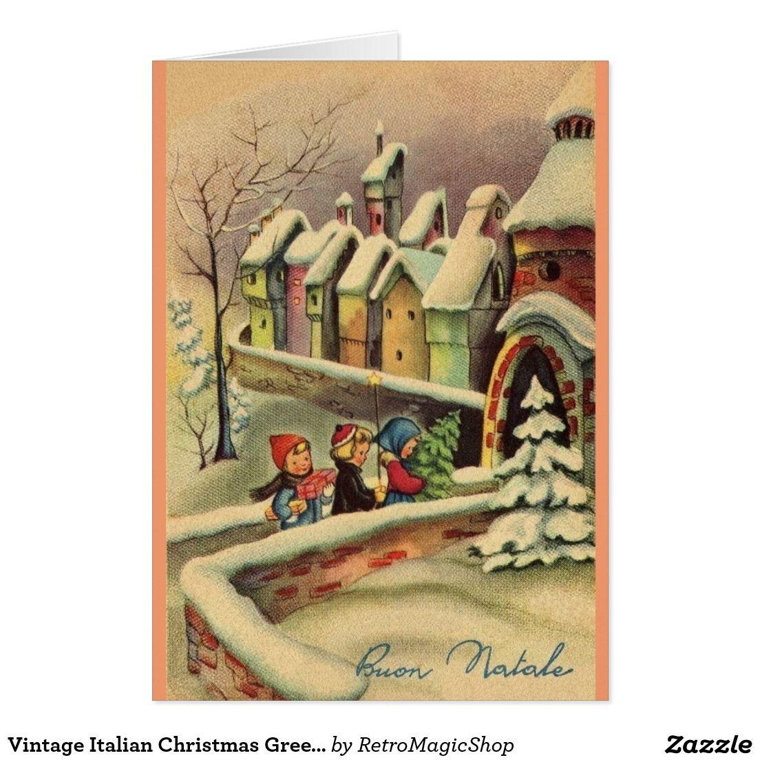 Vintage Italian Christmas Greeting Card | Pinterest | Christmas ...