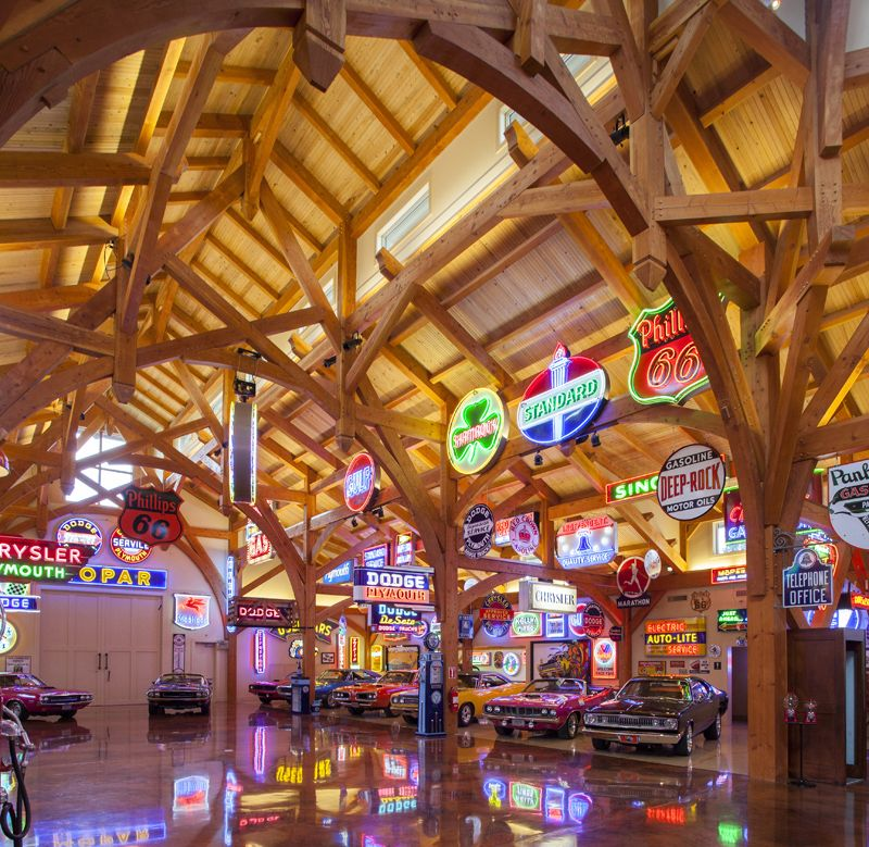 Garage Design Cool Garages: Coolest Car Barn EVER!! Texas Timber Frames