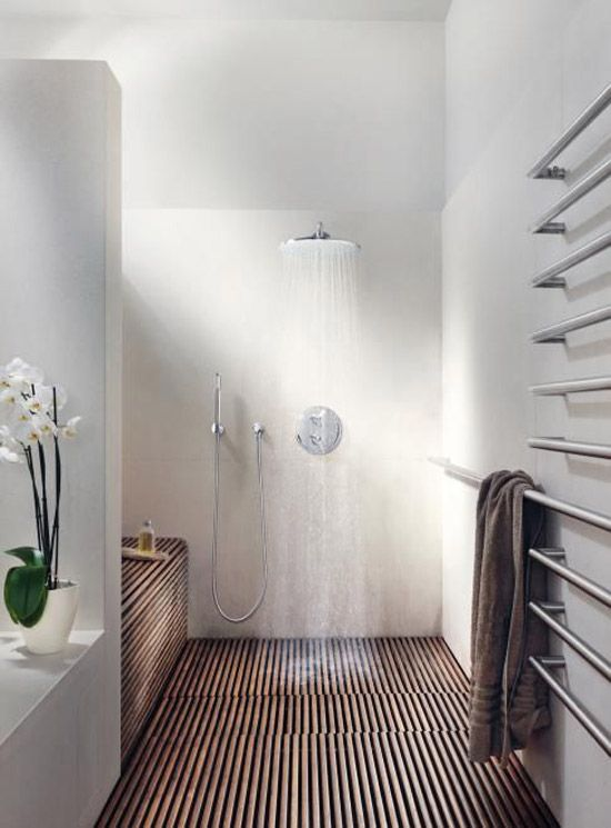 Houten vloer in de badkamer - Bathroom Inspiration | Pinterest ...