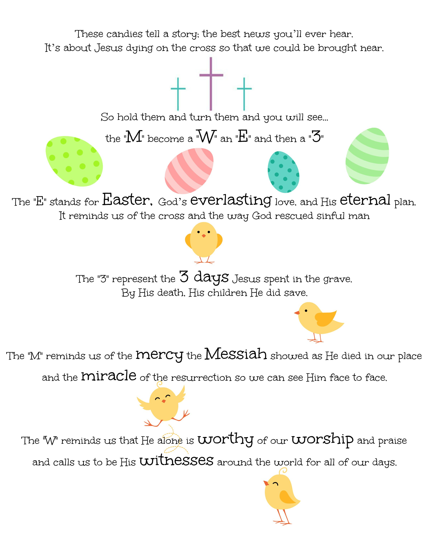 M Amp M S Easter Poem Jesus Christ Is Risen