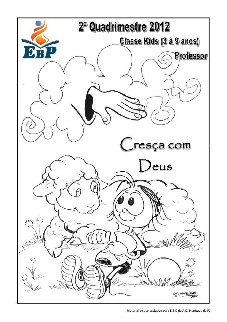 Apostila Ebd Classe Kids Professor Cresca Com Deus 2º