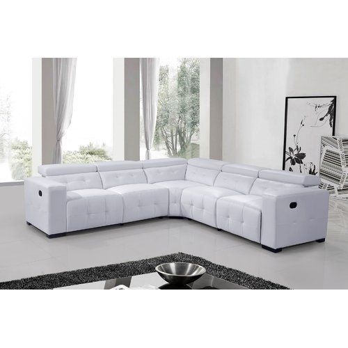 Found It At Wayfair Reclining Leather Sectional With Images