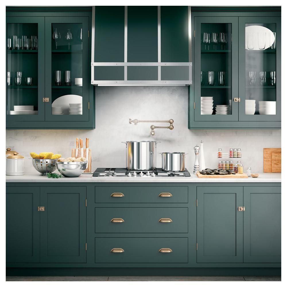 Ge 36 In Insert Range Hood With Light In Stainless Steel Uvc9360slss The Home Depot Green Kitchen Cabinets Kitchen Cabinet Inspiration Kitchen Cabinets