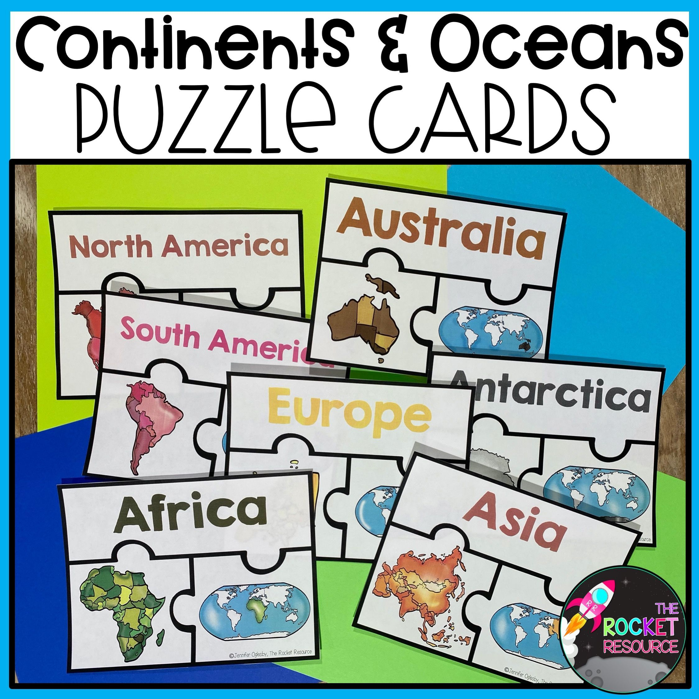 Continents And Oceans Fact Book Color Label Games