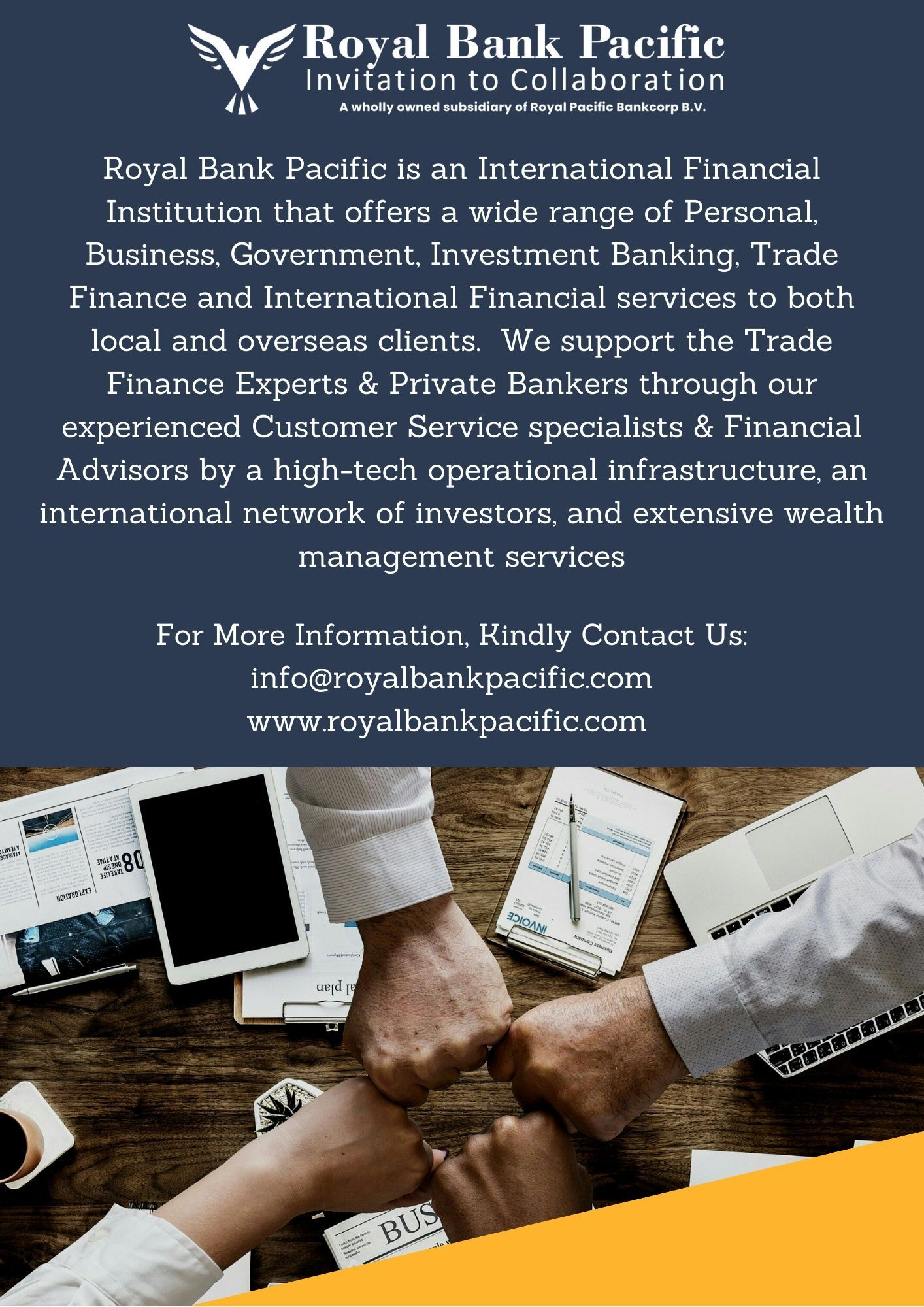 Royal Bank Pacific Royal Bank Trade Finance Investment Banking