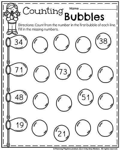 Kindergarten Worksheets For May - Planning Playtime Spring Math Worksheets,  Kindergarten Math Worksheets, Kindergarten Math Lesson