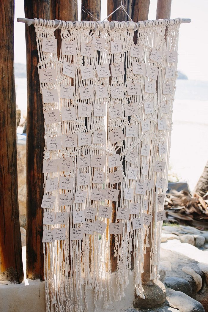 Beach Wedding Escort Cards | fabmood.com