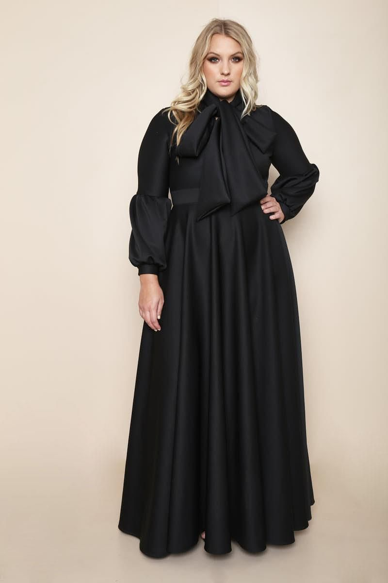 A stunning plus size maxi dress that is truly fit for a queen