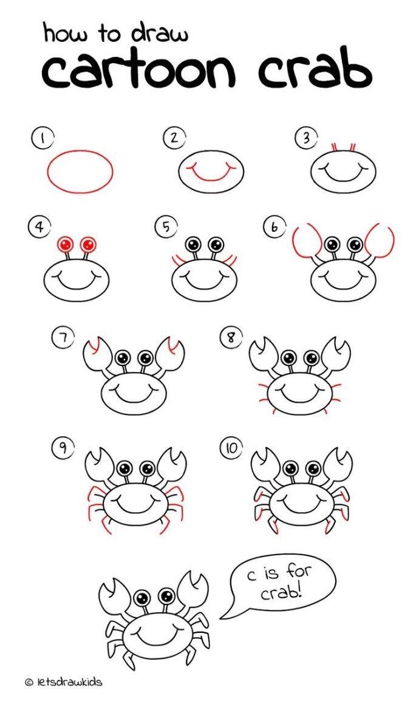 10 Cartoon Animal How To Drawings   Easy drawings, Easy ...