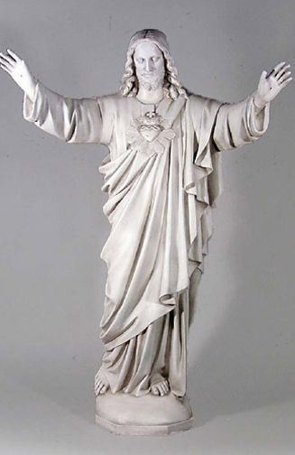 Perfect Sacred Heart Of Jesus Statue   Raised Arms Blessing   60 Inch   Indoor /  Outdoor