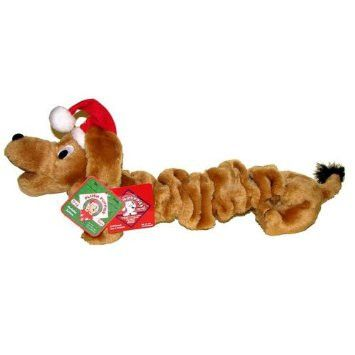 Squeaky Christmas Bungee Dog Toy By Kyjen Barks Bunnies