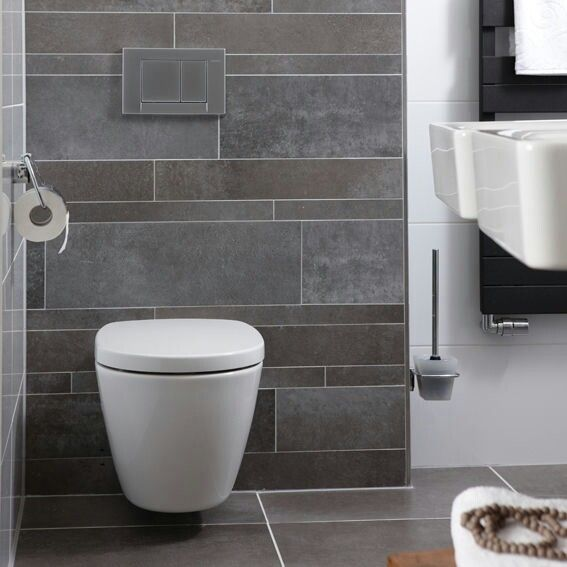 Grijs en wit accenten tegels wc pinterest toilet and bathroom inspiration - Tegels wc design ...