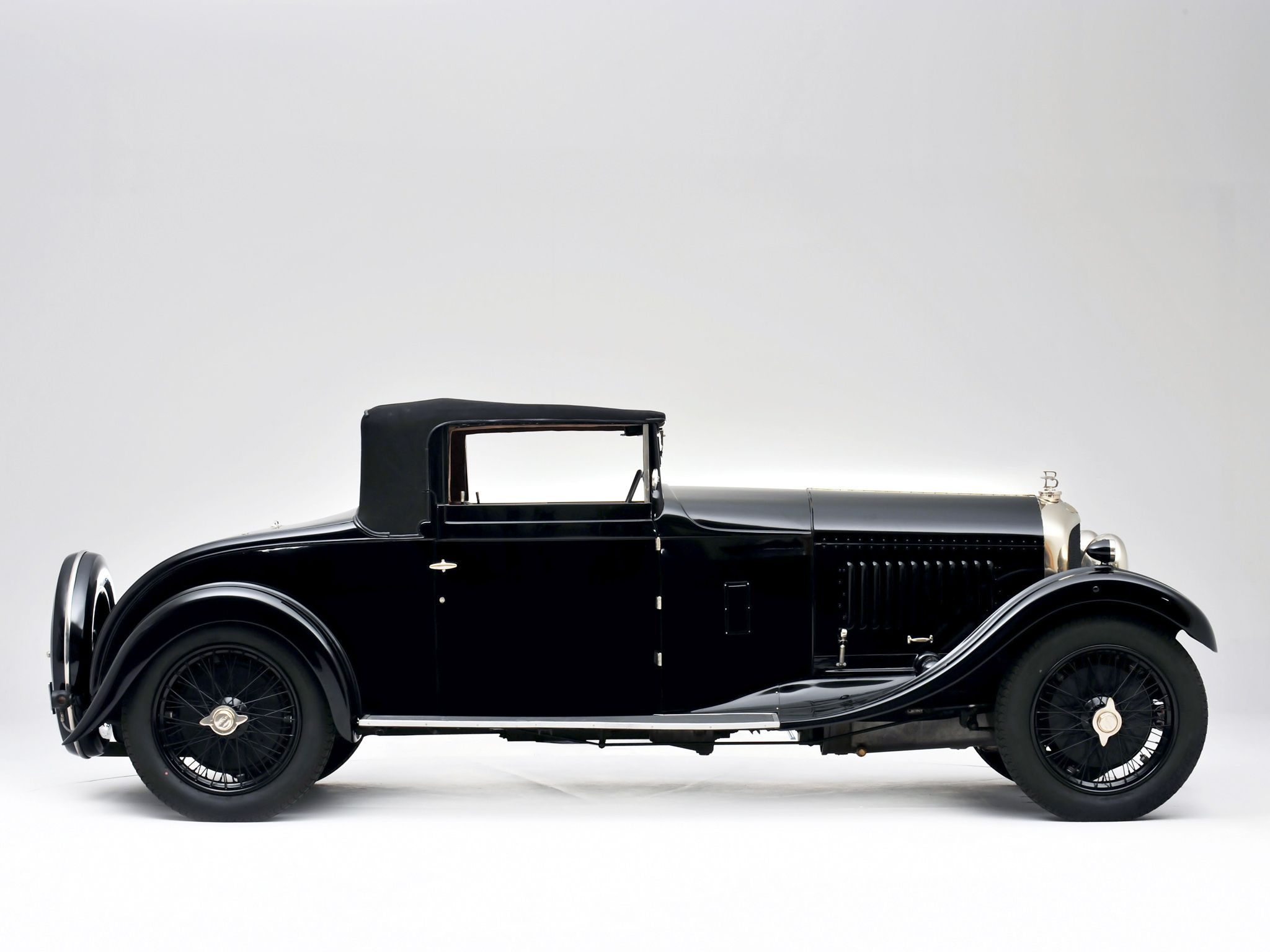 1929 Black Bentley 4 12 Litre Drophead Coupe Old Classic Cars