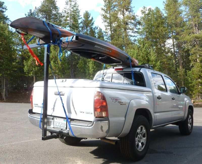 Darby Extend A Truck Kayak Carrier W Hitch Mounted Load Extender And Single Bar Roof Rack Darby