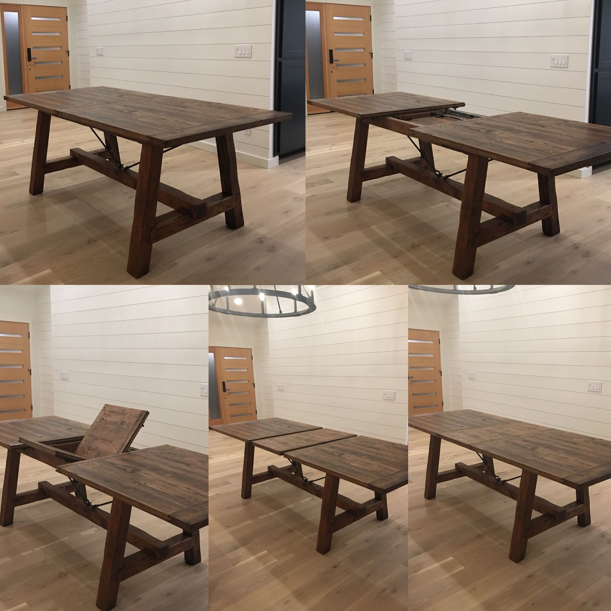 Custom Expanding Farm Table With Hidden Leaf By 22nd Supply Co