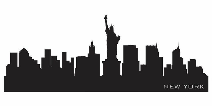 New York Skyline Silhouette Google Search