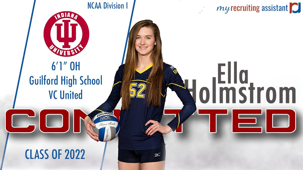 Class Of 2022 Oh Ella Holmstrom Going To Division I Indiana University Indiana University Recruitment Division