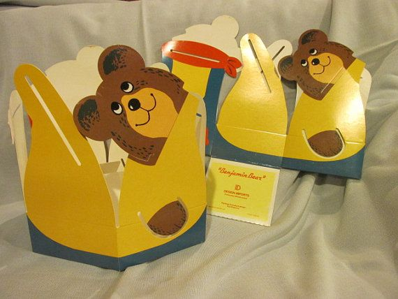2 1986 Design Imports Benjamin Bear Gift Boxes by Pail by TFSloan, $10.00