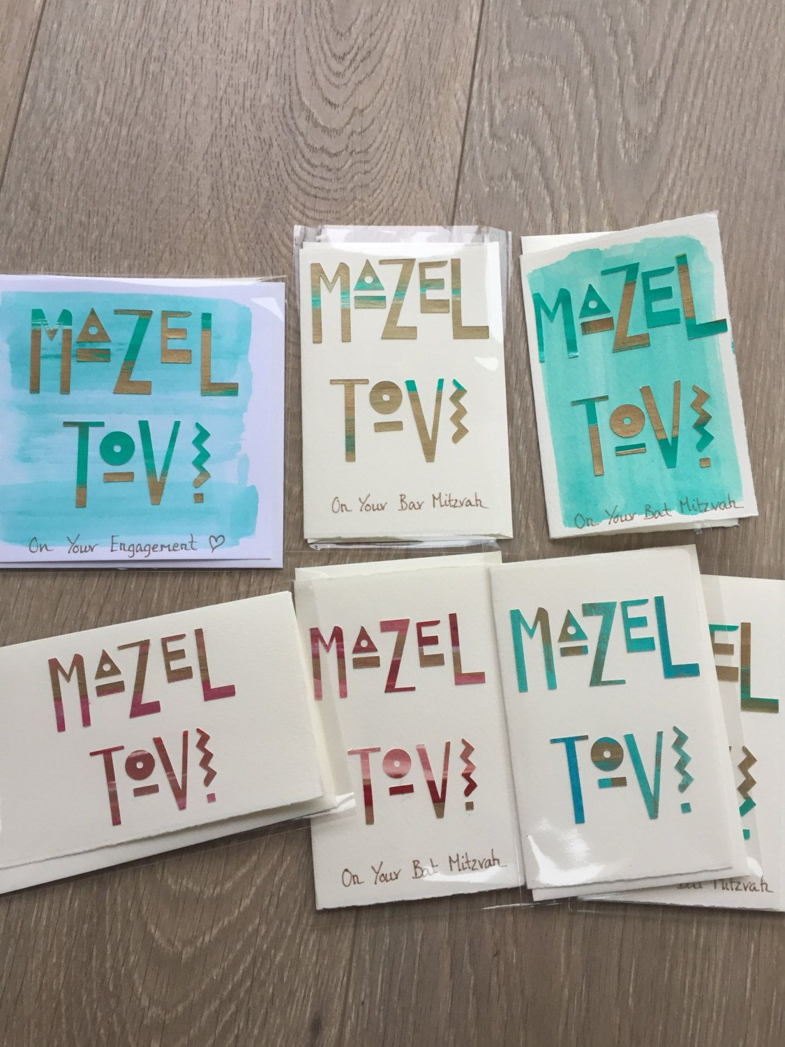 Cards Jewish Congratulations For Bar Mitzvah Bat Colour Customisation Available By DaisyandMaisy On Etsy
